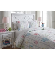 Ashley - Lucille Q38400 Full Coverlet Set - Multi (Q384003F)