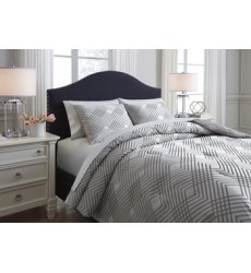 Ashley - Anjelita Queen Comforter Set - Pewter ( Q385003Q )