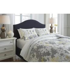 Ashley - Maureen Q38800 King Comforter Set - Gray/Yellow (Q388003K)