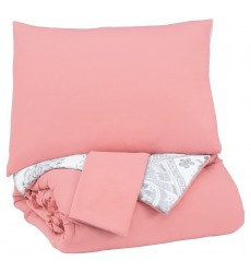 Ashley - Avaleigh  Q70200 Full Comforter Set - Pink/White/Gray(Q702003F)