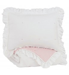 Ashley - Jenalyn  Q71200 Twin Comforter Set - Light Pink/White(Q712001T)