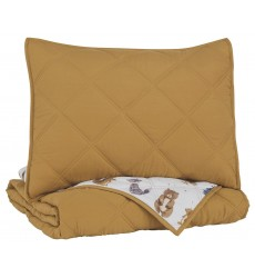 Ashley - Cooperlen  Q71300 Twin Quilt Set - Golden Brown(Q713001T)