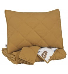 Ashley - Cooperlen  Q71300 Full Quilt Set - Golden Brown(Q713003F)
