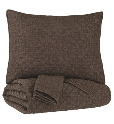 Ashley - Ryter  Q72200 King Coverlet Set - Brown(Q722003K)