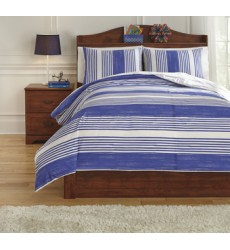 Ashley - Taries Q72901 Full Duvet Cover Set - Blue (Q729013F)