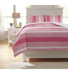 Ashley - Taries Q72902 Full Duvet Cover Set - Pink (Q729023F)