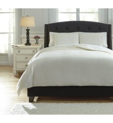 Ashley - Bergden Q73401 Queen Duvet Cover Set - Ivory (Q734013Q)
