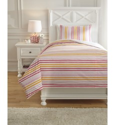 Ashley - Genista Q74100 Twin Duvet Cover Set - Multi (Q741001T)