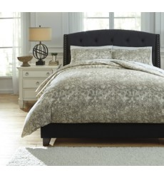 Ashley - Kelby Q75100 King Duvet Cover Set - Natural (Q751003K)