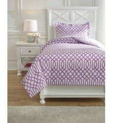Ashley - Loomis Q75802 Twin Comforter Set - Lavender (Q758021T)