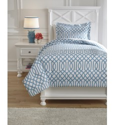 Ashley - Loomis Q75803 Twin Comforter Set - Aqua (Q758031T)