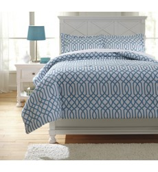 Ashley - Loomis Full Comforter Set - Aqua ( Q758033F )