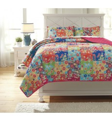 Ashley - Belle Chase Full Quilt Set - Patch ( Q770003F )