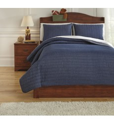Ashley - Capella Q77100 Full Quilt Set - Denim (Q771003F)