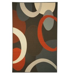 Ashley - Acciai R335002 Medium Rug - Brown/Blue (R335002)