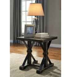 Ashley - Beckendorf T096 Square End Table - Black (T096-2)