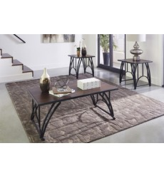 Ashley - Barnallow T343 Occasional Table Set (3/CN) - Dark Brown (T343-13)