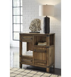 Ashley - Roybeck T411 Accent Cabinet - Light Brown/Bronze (T411-40)