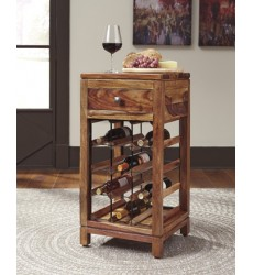 Ashley - Abbonto Wine Cabinet - Warm Brown ( T800-015 )