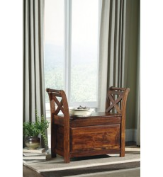 Ashley - Abbonto Bench - Warm Brown ( T800-112 )