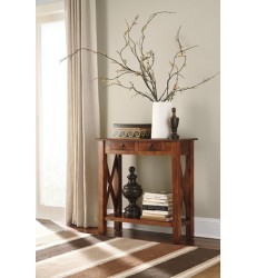 Ashley - Abbonto T800 Console Sofa Table - Warm Brown (T800-114)
