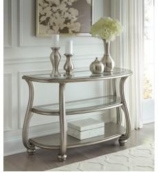 Ashley - Coralayne T820 Sofa Table - Silver Finish (T820-4)