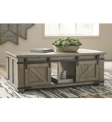 Ashley - Aldwin T837 Rect Storage Cocktail Table - Gray (T837-1)