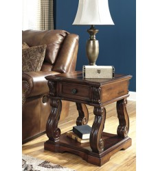 Ashley - Alymere T869 Square End Table - Rustic Brown (T869-2)