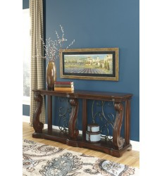 Ashley - Alymere T869 Sofa Table - Rustic Brown (T869-4)