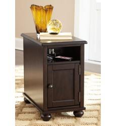 Ashley - Barilanni T934 Chair Side End Table - Dark Brown (T934-7)