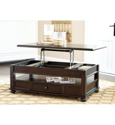 Ashley - Barilanni T934 Lift Top Cocktail Table - Dark Brown (T934-9)