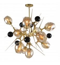 Amber glass shades Ceiling Fixture (BE01)