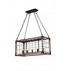 Black Iron Frame Ceiling Fixture (DU115) - Bethel International