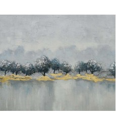 Gold & White Art Painting (JA52HG4050) - Bethel International