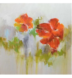Gold & Red Art Painting (JA55HG4040) - Bethel International