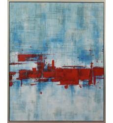 Blue & Red Art Painting (JA62HG4050S) - Bethel International