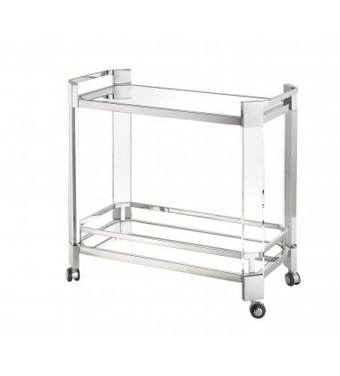 Polished Nickel Finish Bar Cart (JF02GK-PS)