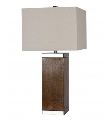 A Box Shade Table Lamp (JTL04KT-WL) - Bethel International
