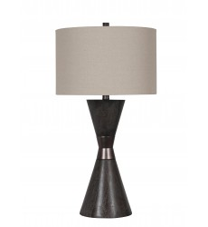 A drum shade Table Lamp (JTL06KT-DW) - Bethel International