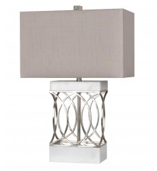 A grey box shade Table Lamp (JTL11KT-WT)