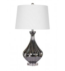 A white shade Table Lamp (JTL13KT-CH) - Bethel International