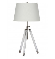 A white shade Table Lamp (JTL17KT-CL) - Bethel International