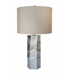 A Toupe grey shade Table Lamp (JTL35GV-SL) - Bethel International