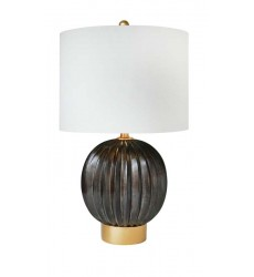 A natural shade Table Lamp (JTL36GV-DW) - Bethel International