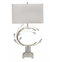 Silver Finish Table Lamp (JTL44RC-SLR) - Bethel International
