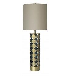 An oatmeal shade Table Lamp (JTL50GV-AB)