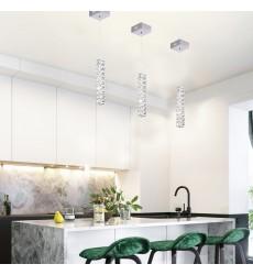 3 Side Clear Crystal LED Single Pendant Lighting (KD22) - Bethel International
