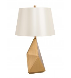 Beige Silky Fabric Shade Table Lamp (MTL13PQ-GD) - Bethel International