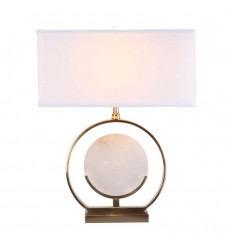 Marble and Metal Base Table Lamp (MTL14PQ-GD) - Bethel International