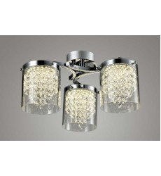 BI - Chrome Frame LED Flush Mount (ZP86)